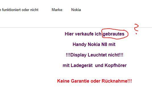 gebrautes Nokia